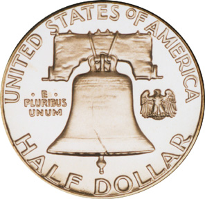 Franklin Silver Coin Reverse
